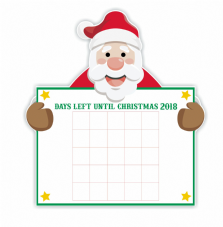 Days Until Christmas Santa Countdown Vinyl Decal Sticker And Numbers Set